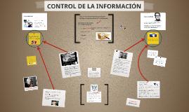 CONTROL DE LA INFORMACIÓN