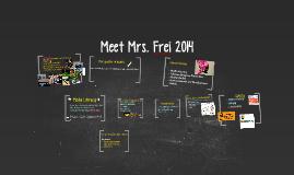 Meet Mrs. Frei