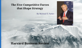 Five Competitive Forces that Shape Strategy