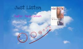 Book Talk: Just Listen