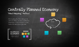 a centrally planned economy