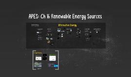 APES: Ch 16 Renewable Energy Sources