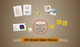 4th Grade Open House