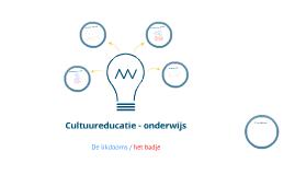 Cultuureducatie - onderwijs