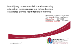 Identifying consumer risks and assessing education needs reg