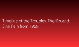 Copy of The Troubles In Ireland
