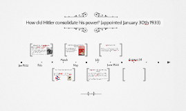 how did hitler consolidated his power During the years 1933-4 hitler used both legal and violent means of power to consolidate his power, and used the economic collapse of 1931 as an.