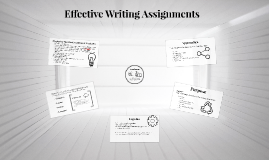 Effective Writing Assignments