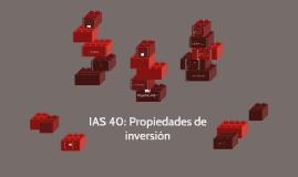 IAS 40: Propiedades de inversión