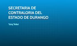 SECRETARIA DE CONTRALORIA DEL ESTADO DE DURANGO