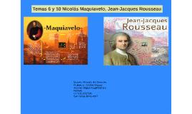 Maquiavelo y Jean-Jacques Rousseau