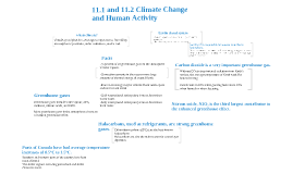 11.1 and 11.2 Natural climate change and human activity