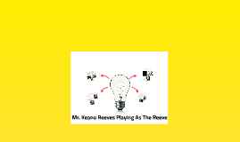 Mr. Keanu Reeves playing as the reeve