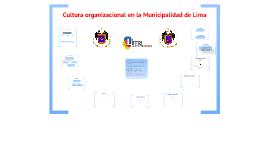 Cultura Organizacional en la Municipalidad de Lima