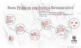 Boas Práticas em Justiça Restaurativa