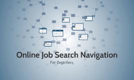 Online Job Search Navigation