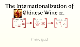 The internationalization of Chinese Wine