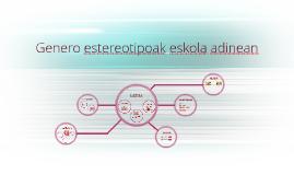 Copy of Genero estereotipoak eskola adinean