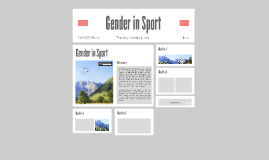 Copy of Gender in Sport