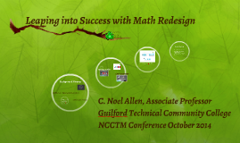 Leaping into Success with Math Redesign