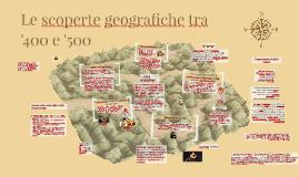 Le scoperte geografiche tra il 1400 e il 1500