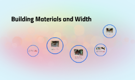 Building Materials and Width