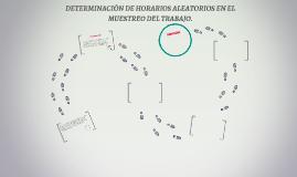DETERMINACION DE HORARIOS ALEATORIOS EN EL MUESTREO DEL TRAB