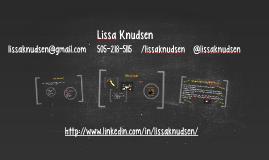 Knudsen Prezume for CNM STEMulus Program Coordinator Position