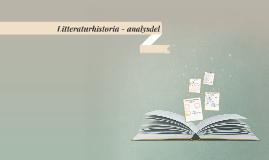 Litteraturhistoria - analysdel