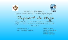 Copy of Rapport de stage