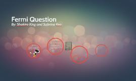 Fermi Question