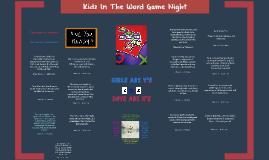 Kidz In The Word Game Night