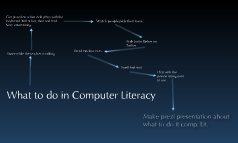 What we do in Computer Literacy