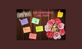LOS GOBIERNOS DEL PERÚ