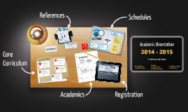 Academic Orientation 2014