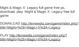 Might & Magic X: Legacy full game free pc, download, play. M