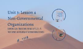 Lesson 4 - Non-Governmental Organizations