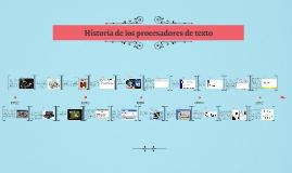 Copy of Historia de los procesadores de textos
