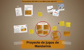 Proyecto de jugos de Mandarina
