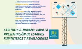 Normas para la presentacion de estados financieros y revelaciones.