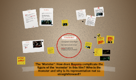 The 'Monster': How does Bayona complicate the figure of the
