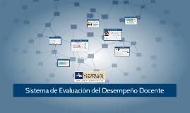 Sistema de Evaluación del Desempeño Docente