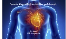 Copy of Pre-emptive NO and cardiac transplantation : proof of concept