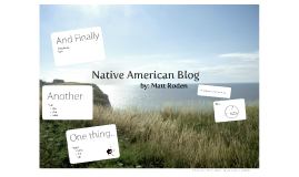 Native American Blog