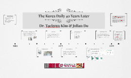 The Korea Daily 40 Years Later