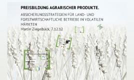 Preisbildung agrarischer Produkte