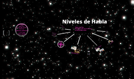 NIVELES DE HABLA