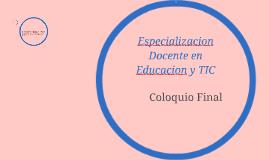 Especializacion Docente en Educacion y TIC