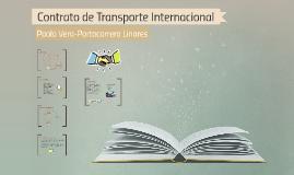 Contrato de Transporte Internacional