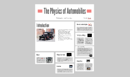 The Physics of Automobiles